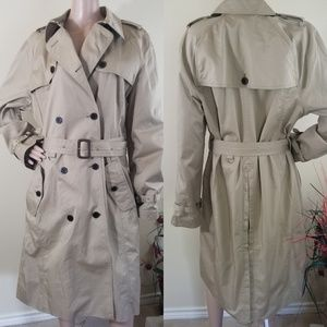 NEW Lands' End Women's Tan Belted Coats Size XL